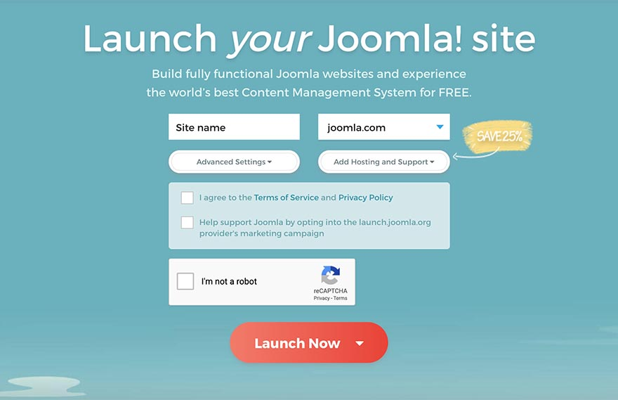 Launch Joomla!