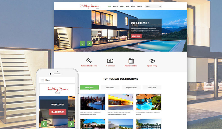 Real Estate Rent Joomla Template