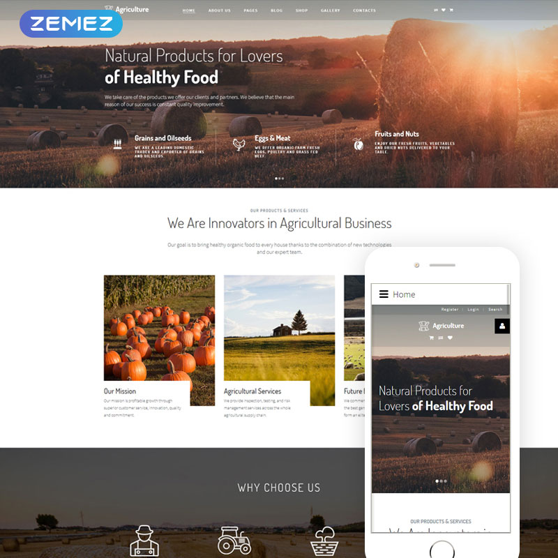 Agriculture - Fruits Joomla Template
