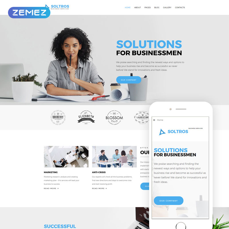 Soltros - Business & Services Joomla Template