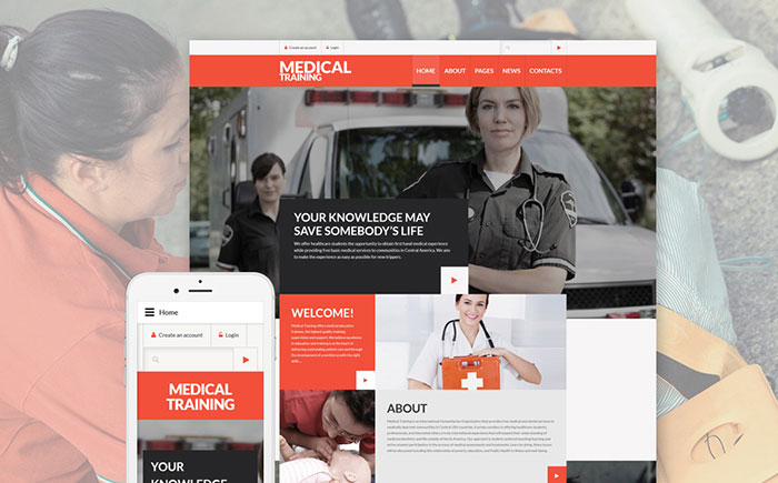 Medical & Science Website Responsive Joomla Template