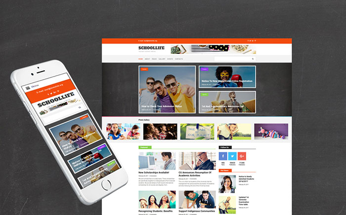 Education Blog Cross-Browser Joomla Template