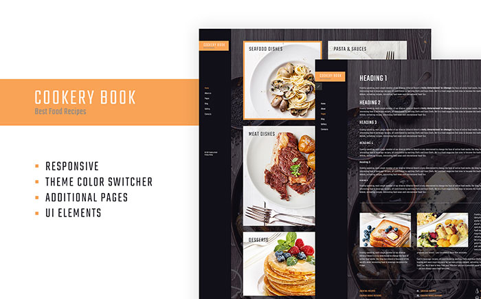 Cookery & Recipes Website Responsive Joomla Template