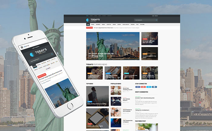 News Blog Fully Responsive Joomla Template