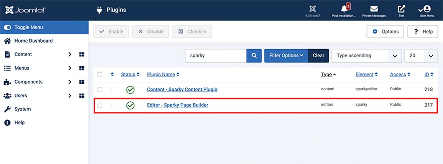 Sparky Editor Plugin Published