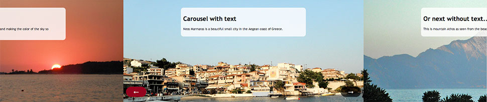 Responsive Carousel - Normal mode