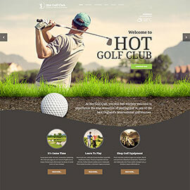 Responsive Golf Template