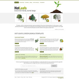 Green Joomla Template