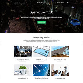 Meetup - Events Joomla Template