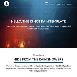 Rain Video Background Template
