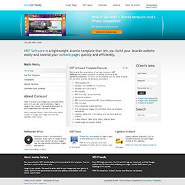 Joomla Software Template