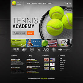 Joomla tennis template