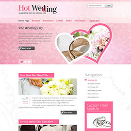 Joomla Wedding Template