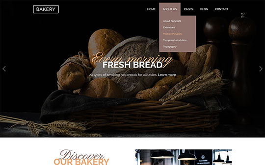 Drop-down multilevel menu in Bakery template