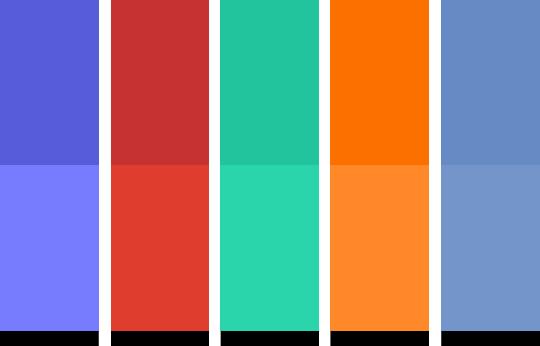 Color schemes of the Dark Mode Joomla! template