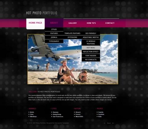 Hot Photo Portfolio - Joomla Portfolio Template - HotThemes