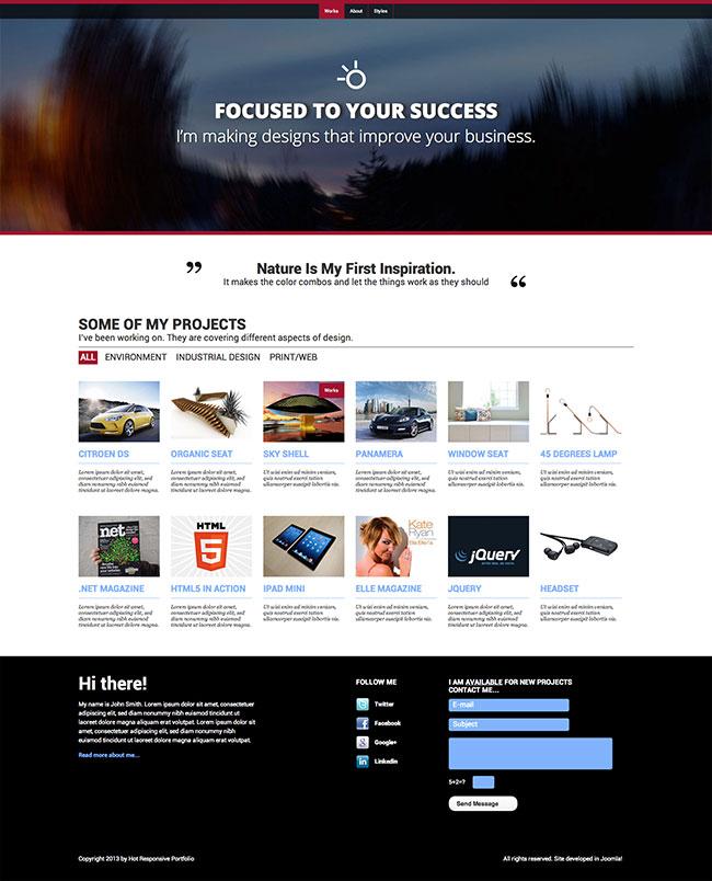 Responsive Portfolio Template - HotThemes
