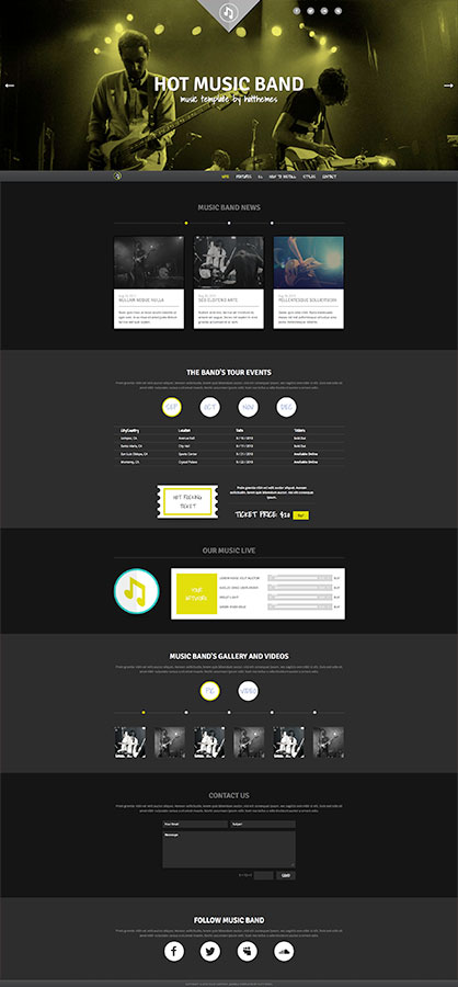 Music Band Template - HotThemes