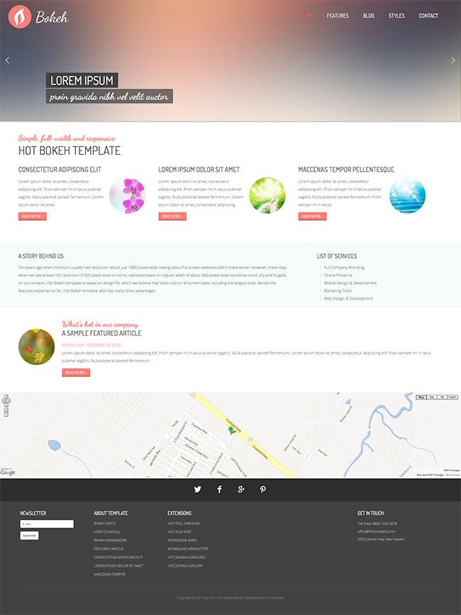 Bokeh - Full Screen Template - HotThemes