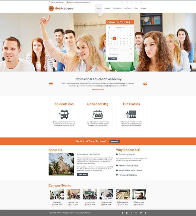 Hot Academy - Education Template - HotThemes