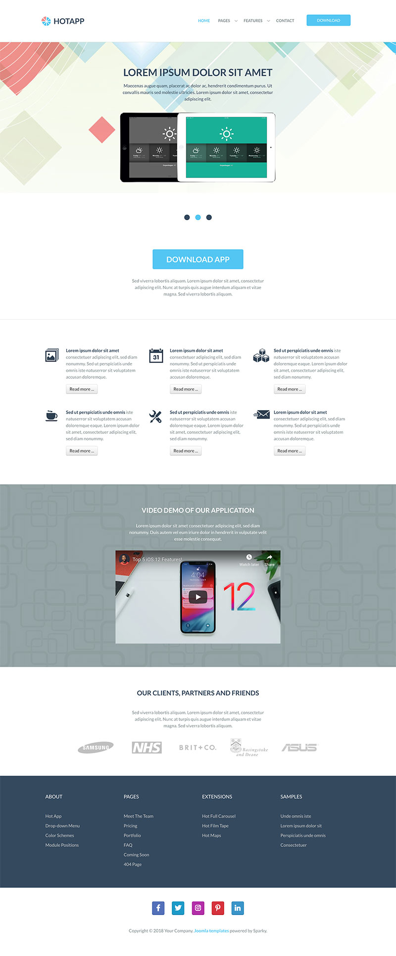 App Template - HotThemes