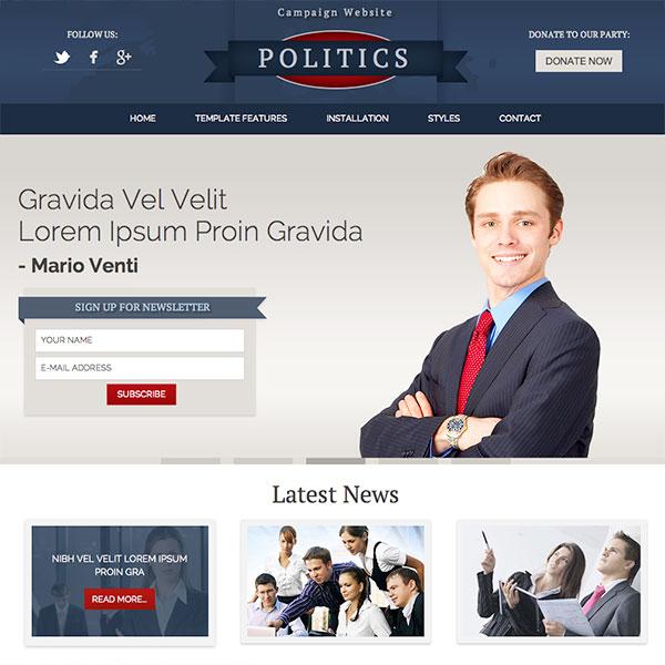 Political Templates Kleobeachfixco - Political website templates