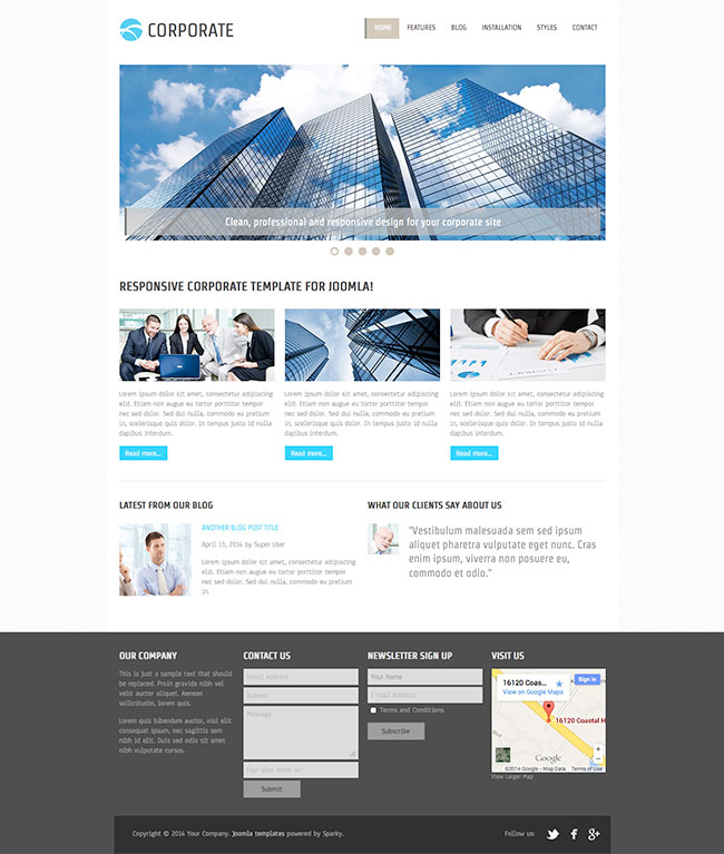 Joomla Corporate Template - Joomla Templates - HotThemes