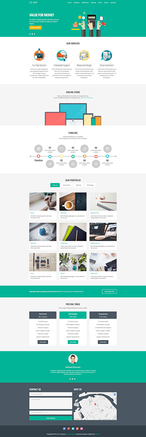 Flat Joomla Template Hotthemes