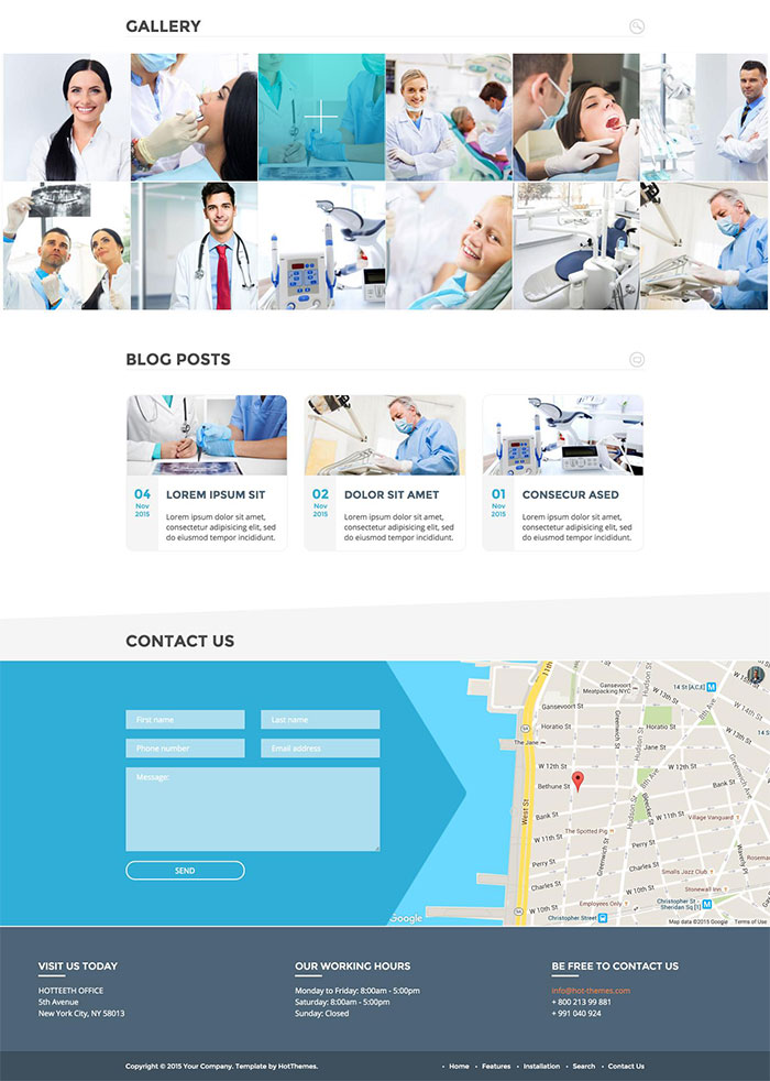 dentist joomla template hotthemes