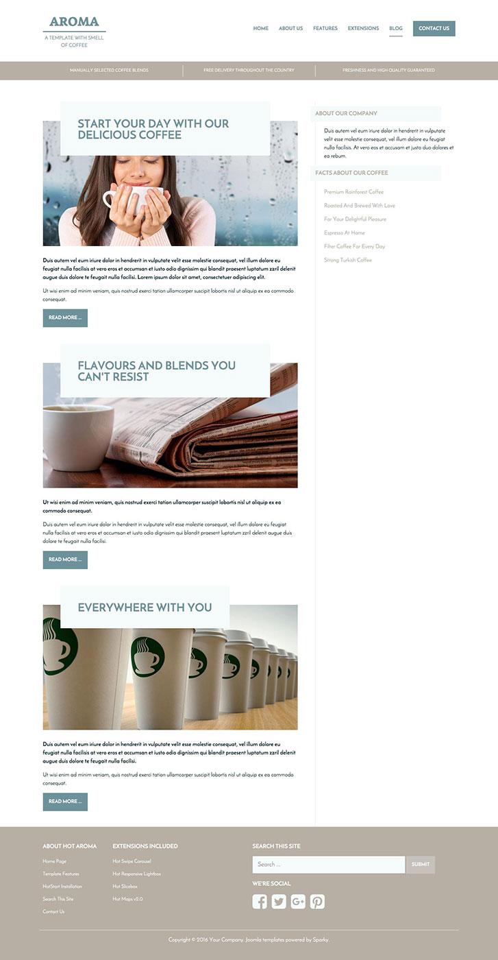 Coffee Joomla Template - HotThemes