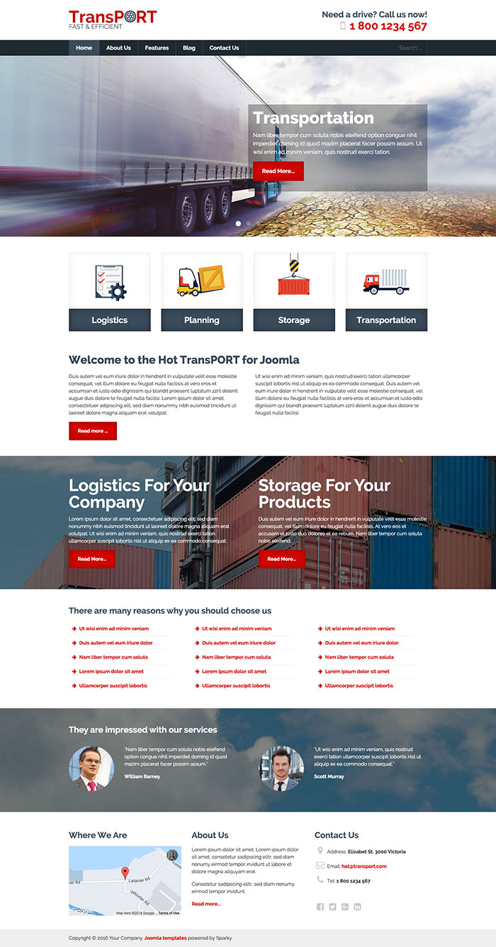 joomla org templates transport template hotthemes