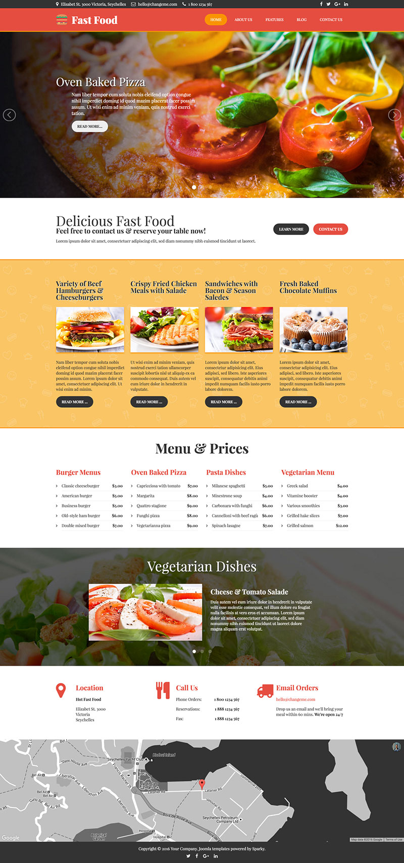 Fast food template hotthemes template screen shot 1 forumfinder Images