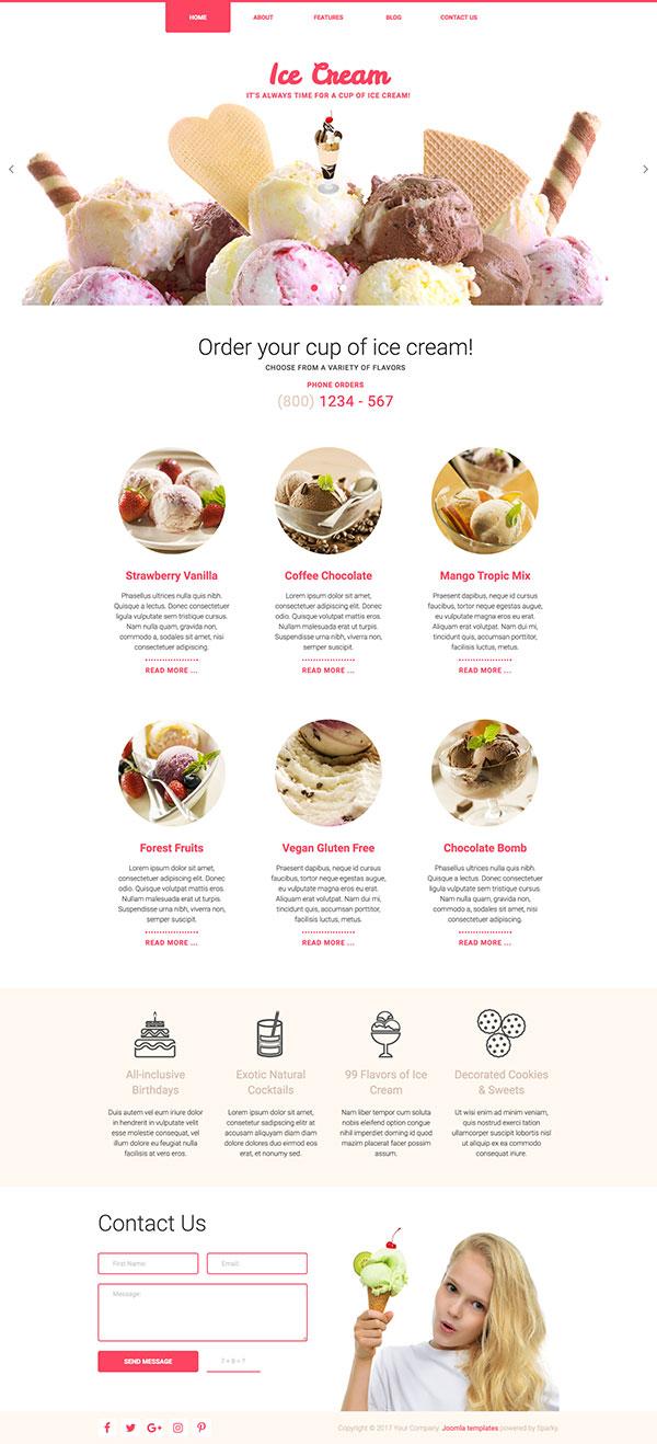 Ice Cream Template - HotThemes