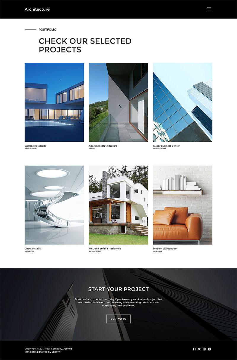 Architecture Template Joomla Templates Hotthemes
