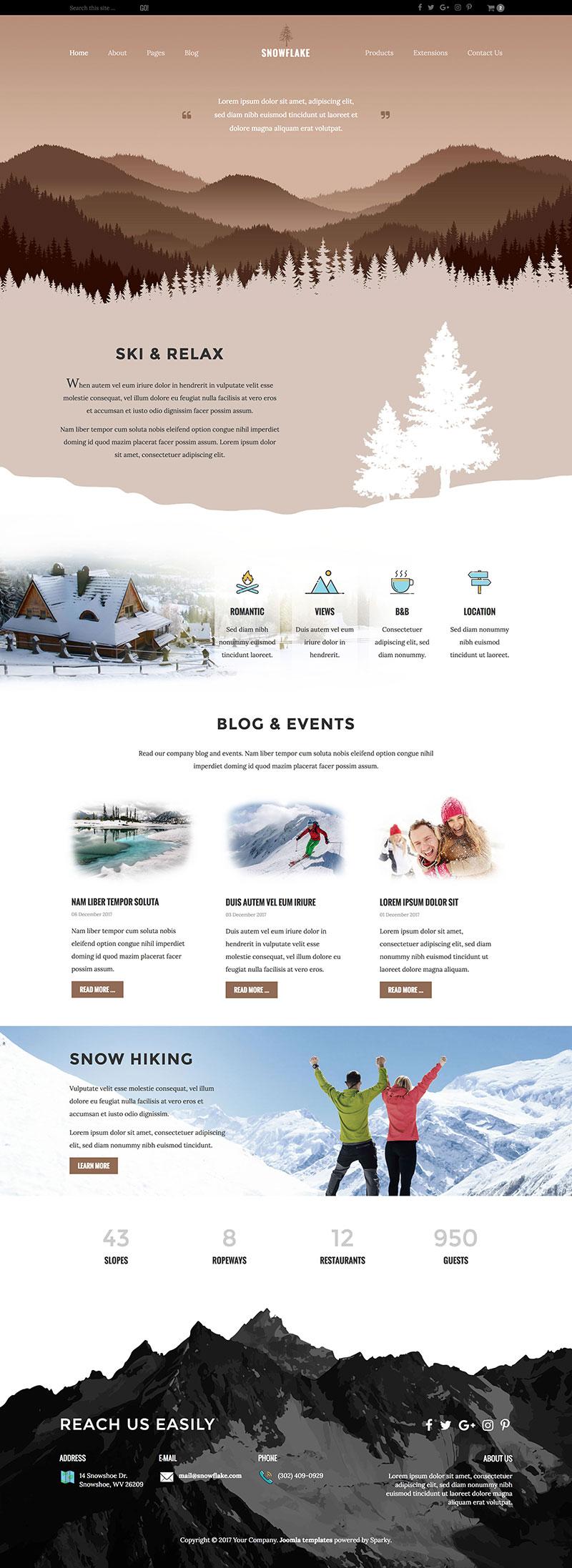 Joomla Ski Template - Joomla Templates - HotThemes