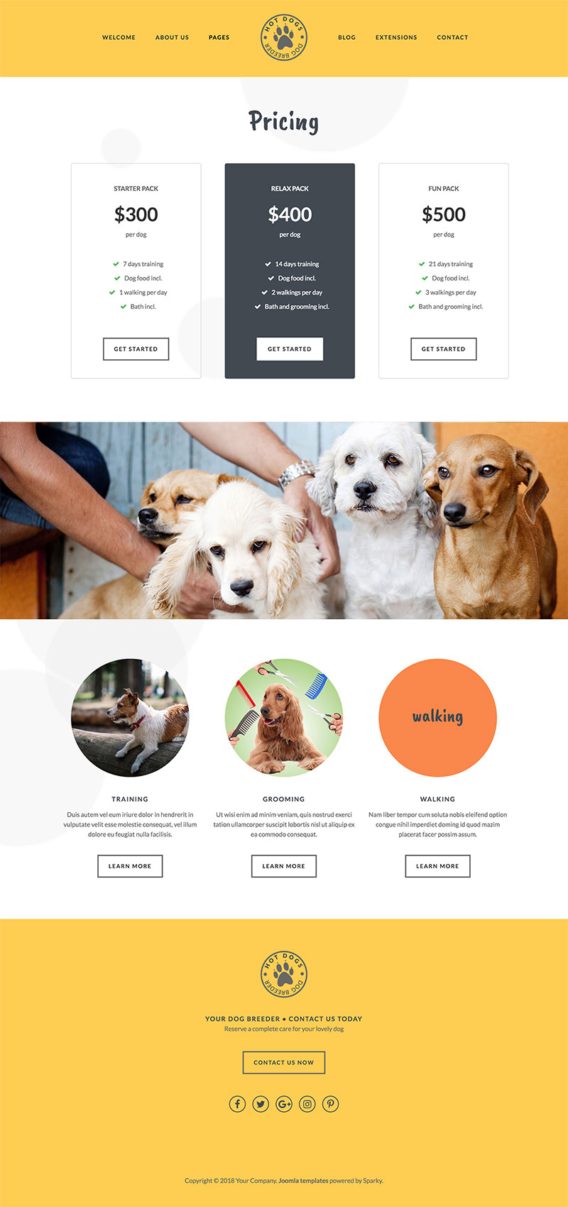 Dog Template - Hot Dogs - HotThemes