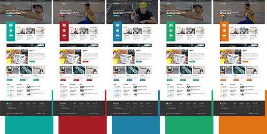 Color schemes of the HVAC Joomla template