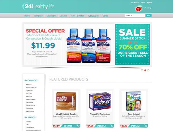 Joomla Pharmacy Template - Hot Drug Store - HotThemes