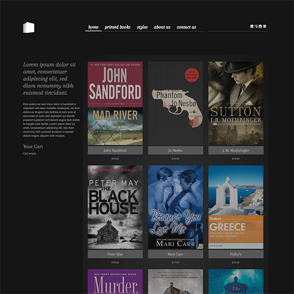 hot bookstore - sell books online - hotthemes, Powerpoint templates