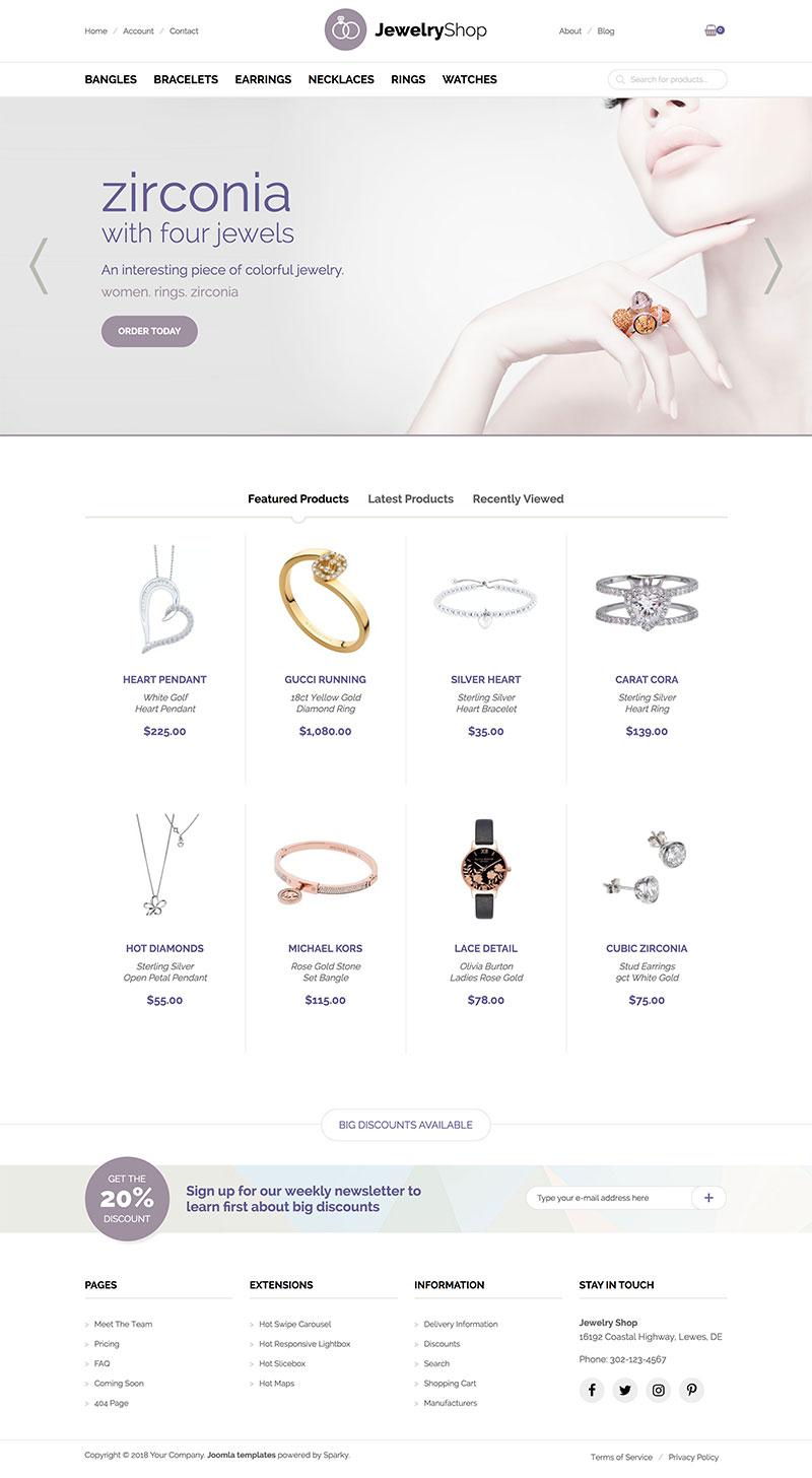 Joomla Jewelry Template - VirtueMart Templates - HotThemes