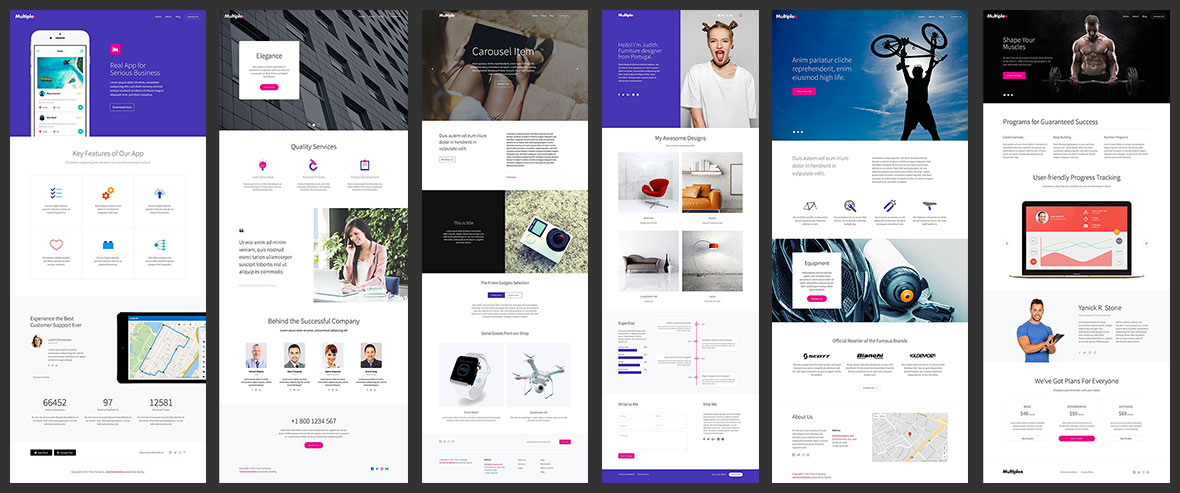 Multiple landing page concepts