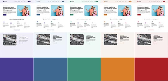 Colors of the Quattro template