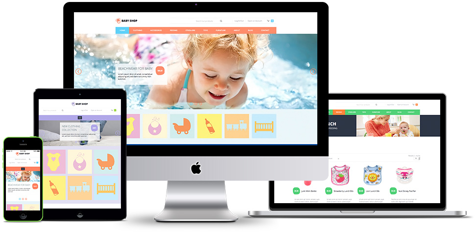 responsive baby shop template