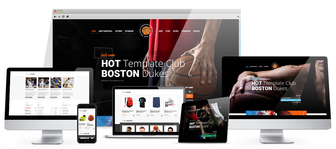 Responsive Basketball Template