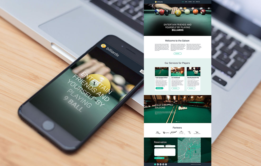 Responsive Billiards Template