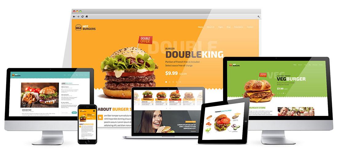 Responsive Burgers Template