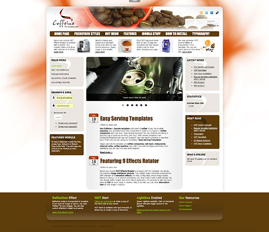 Cafe Template for Joomla