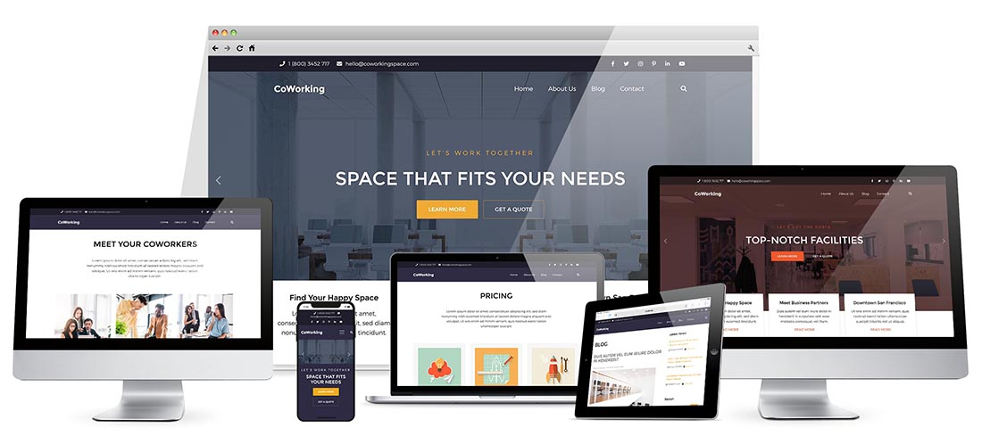 Responsive Coworking Template