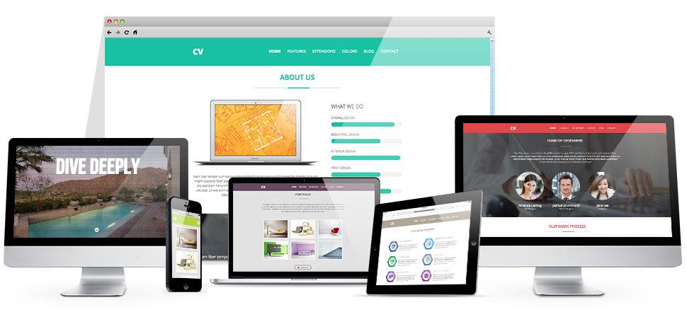 joomla portfolio template - cv