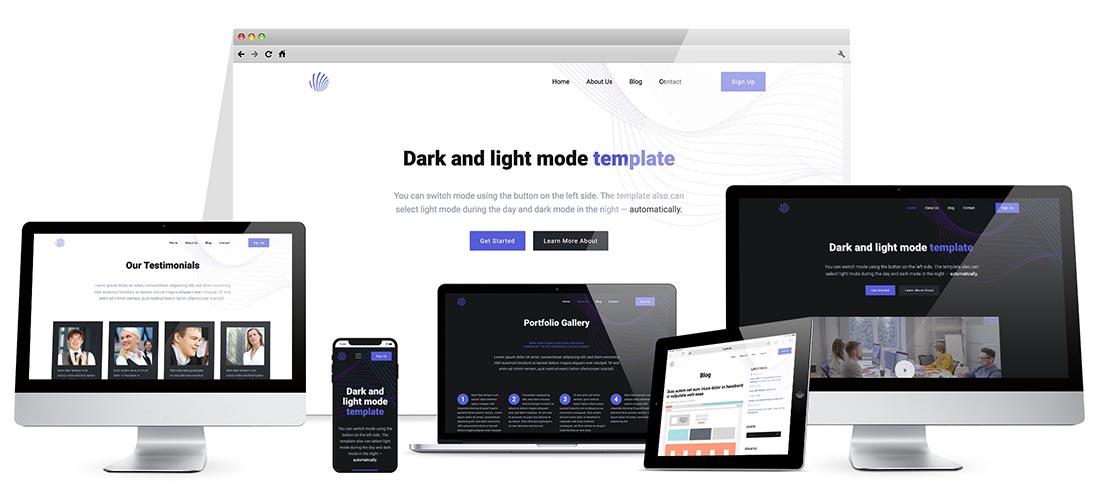 Responsive Dark Mode Template